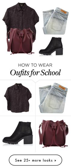 """""""Back to school"""" by mariami-princess2013 on Polyvore featuring Kenzo, Denham and River Island"""