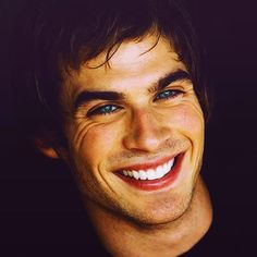Ian Somerhalder. Love the way the corners of his eyes wrinkle up like that!