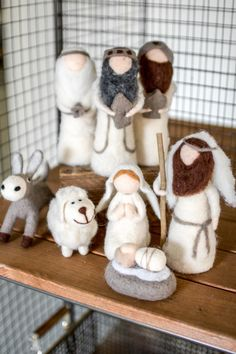 Set of 8 Felt Nativity