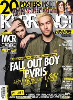 Kerrang music magazine Fall Out Boys Pvris Paramore MCR Mikey Way Posters