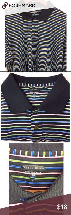 Pebble Beach Performance Golf Shirt Mens Size XL