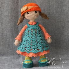 Your place to buy and sell all things handmade Crochet Doll Clothes, Crochet Dolls, Crochet Hats, Doll Patterns, Crochet Patterns, Amigurumi Doll, Crochet Animals, Handmade Toys, Paper Dolls