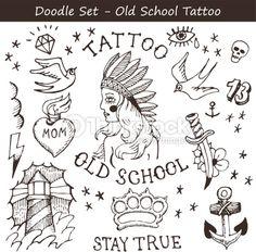 Clipart vectoriel : Tattoo doodles