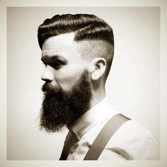 Finding The Best Short Haircuts For Men Undercut Women, Undercut Hairstyles, Men's Hairstyle, Shaved Side Hairstyles Men, Moustaches, Hair And Beard Styles, Short Hair Styles, Side Haircut, Beard Love