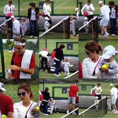 """""""Cutie pies of Roger. Roger Federer Family, Mirka Federer, Mr Perfect, Living Legends, Tennis Players, Wimbledon, Champion, Poetry, King"""