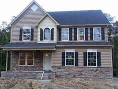 Ryan Homes Building Process. Building a Ryan Home Milan in Richmond, Virginia. House Paint Exterior, Exterior House Colors, Ryan Homes Venice, Building Process, Home Blogs, House On A Hill, Paint Colors For Home, New Home Designs, Model Homes
