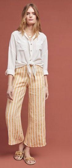 Shorts Faithful Ann Taylor Loft Sz 4 Orange High Rise Linen Shorts W Tie Belt Linen Cotton Non-Ironing Clothing, Shoes & Accessories