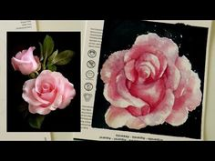 Watercolor Tutorial: How to paint a realistic rose and how to draw upside down by ART TV - YouTube