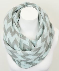 Mint Zigzag Infinity Scarf | Daily deals for moms, babies and kids