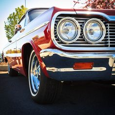 Chevy Impala - A white '64 Chevy Impala SS was my first car. High school gift from mygrandfather, the original owner.