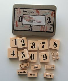 Number stamps just make me happy :: Rubber Stamp Kit by Glitz Design