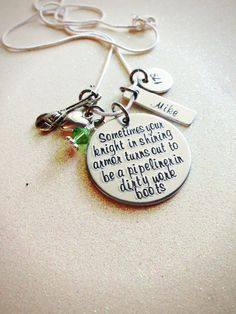 Custom Hand Stamped Pipeline Wife or Girlfriend by GabbieGoodies, $32.00