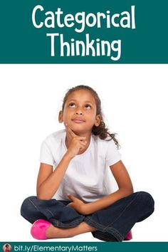 Categorical Thinking: The brain automatically wants to sort ideas into patterns and categories. We can help children strengthen these skills. Teacher Blogs, Teacher Resources, School Resources, Elementary Teacher, Elementary Schools, First Week Activities, Stem Activities, Teaching Critical Thinking, Teaching Biology