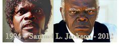 Samuel L. Jackson - Pulp Fiction 1994, Django 2012 directed by Quentin Tarantino.