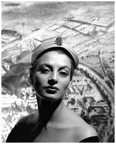 Capucine by Georges Dambier, 1952. She suffered from manic-depression and had been ill for years. Finally in 1990 she committed suicide in Lausanne. She's remembered for patrician beauty and playing a cool straight man to Peter Sellers in the Pink Panther movies.