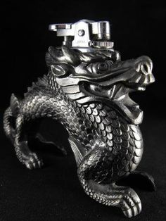 Vintage LIGHTER Table Top DRAGON Japanese Export by hipcricket, $75.00