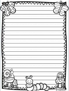 All the writing paper styles you need for holiday and seasonal writing through March, April, and May! 40 printable pages. 1st Grade Writing, Kindergarten Writing, Teaching Writing, Writing Activities, Literacy, Lined Writing Paper, Writing Papers, Write My Paper, Printable Lined Paper