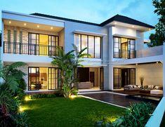 Jasa Arsitek Desain Rumah Bapak Toto Hall Interior Design, Home Room Design, Exterior Design, House Front Design, Modern House Design, Model House Plan, House Plans, Sweet Home Design, Looking For Houses