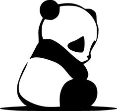 Panda SVG files for cricut Animal dxf silhouette cricut