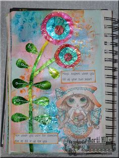 Pez-A-Doodle Designs - Mixed media art journaling with ColourArte - Primary Elements paint skins