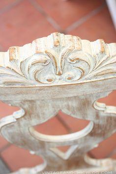 Cómo dar un nuevo aspecto a una silla antigua de madera · DIY: shabby chic old chair