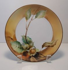 Antique Morimura Nippon Autumn Colors Plate by Alicesvintagefinds