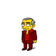 "The Man from Another Place from ""Twin Peaks"" / Simpsonized by ADN (I can't stop pinning these.)"