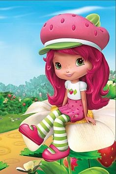Strawberry Shortcake Coloring-Pages Kids Printable Colouring Pictures