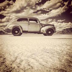 "eblackdesign: ""at Bonneville Salt Flats "" Hot Rods, Classic Cars, Sedans, Photo And Video, Salt, Posts, Instagram, Videos"