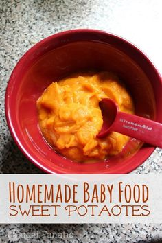 Follow our baby food sweet potato recipe to make your baby a delicious meal. Sweet potatoes are one of the first food's that you can feed your baby.