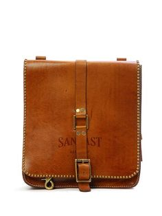 Charles Leather Bag (Rust) a perfect tomboy touch to any outfit!!!!!!!