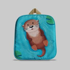 Excited to share the latest addition to my #etsy shop: Rybka - Small Backpack 2-3 Years, Kids Backpack, Toddler Bag, Preschool Kids, Playgroup bag, Otter http://etsy.me/2Ctnn1b #bagsandpurses #backpack #blue #kids #toddlerbag #preschoolkids #playgroupbag #gift #birthda