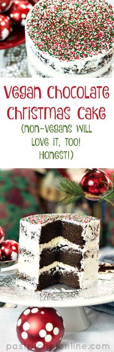 Light and delicious and festive you will love this vegan chocolate