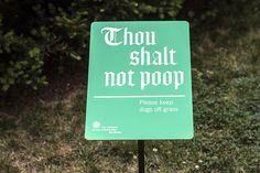 Signage for the Cathedral Church of St. John the Divine - Michael Bierut