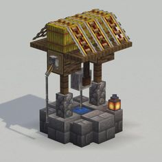 Round base and sloped roof on a well - DetailCraft - Explore the best and the special ideas about Minecraft Skins Minecraft Farmen, Minecraft Building Guide, Minecraft Welten, Amazing Minecraft, Minecraft Construction, Minecraft Bedroom, Minecraft Tutorial, Minecraft Blueprints, Minecraft Crafts