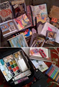 'Artist Journals and My Travel Art Kit...!' (via Pam McKnight)