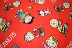 Peanuts Fleece Fabric Dog Fleece Fabric Dog blanket Charlie Brown Linus Lucy prints  fleece fabric free shipping available - SHIPS FAST F573 by FabricPremier on Etsy