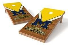 Michigan Wolverines Single Cornhole Board - Uniform