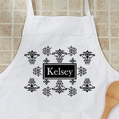 Damask Personalized Apron