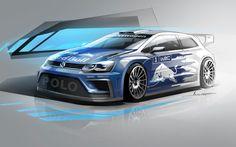 Volkswagen Polo R WRC - Design Sketch