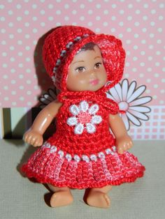 "crochet krissy 2.5"" barbie baby outfit clothes"