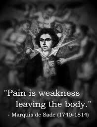 Without pain we know no limit
