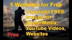 5 Websites for Free Copyright FREE Images for Social Media, YouTube Vide... Make Money Online, How To Make Money, Copyright Free Images, Y Image, Free Website, Social Media, Videos, Youtube, Movie Posters