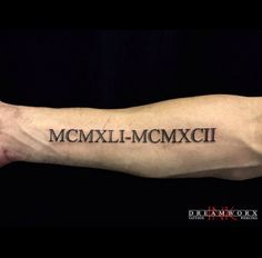 Roman Numeral Tattoo by Nina                                                                                                                                                                                 More