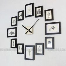 Diy photo collage wall clock fun photo ideas pinterest - Wanduhr modern weiay ...