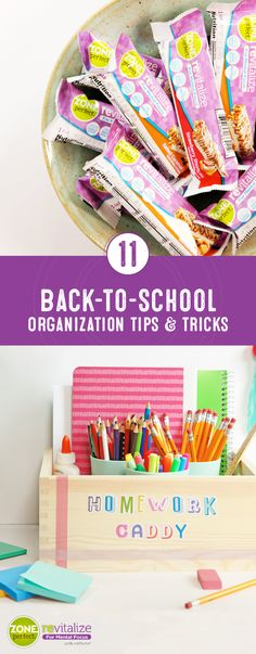 Ready for some busy-mom hacks to help make the back-to-school transition a smooth one? Check out how this collection of 11 Back-to-School Organization Tips and Tricks utilizes ZonePerfect® Revitalize Nutrition Bars to help make this chaotic season less stressful and more productive.  For a mental and physical boost your body needs to stay active and alert, these delicious bars are sure to be a favorite with your family—especially since they come in such tasty flavors!