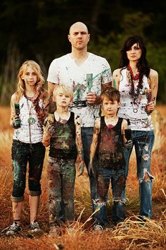 Messy- er colorful- family pictures
