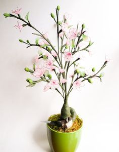 Pink Cherry Blossoms Spring Blossoms Bonsai Flower by JJnKo, $65.00