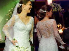 decote costas, vestido de noiva decote costas