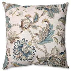 Finders Keepers Blue 23-Inch Square Floor Pillow